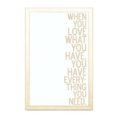 When You Love Have, GOLD FRAME, Magnetic Memo Board