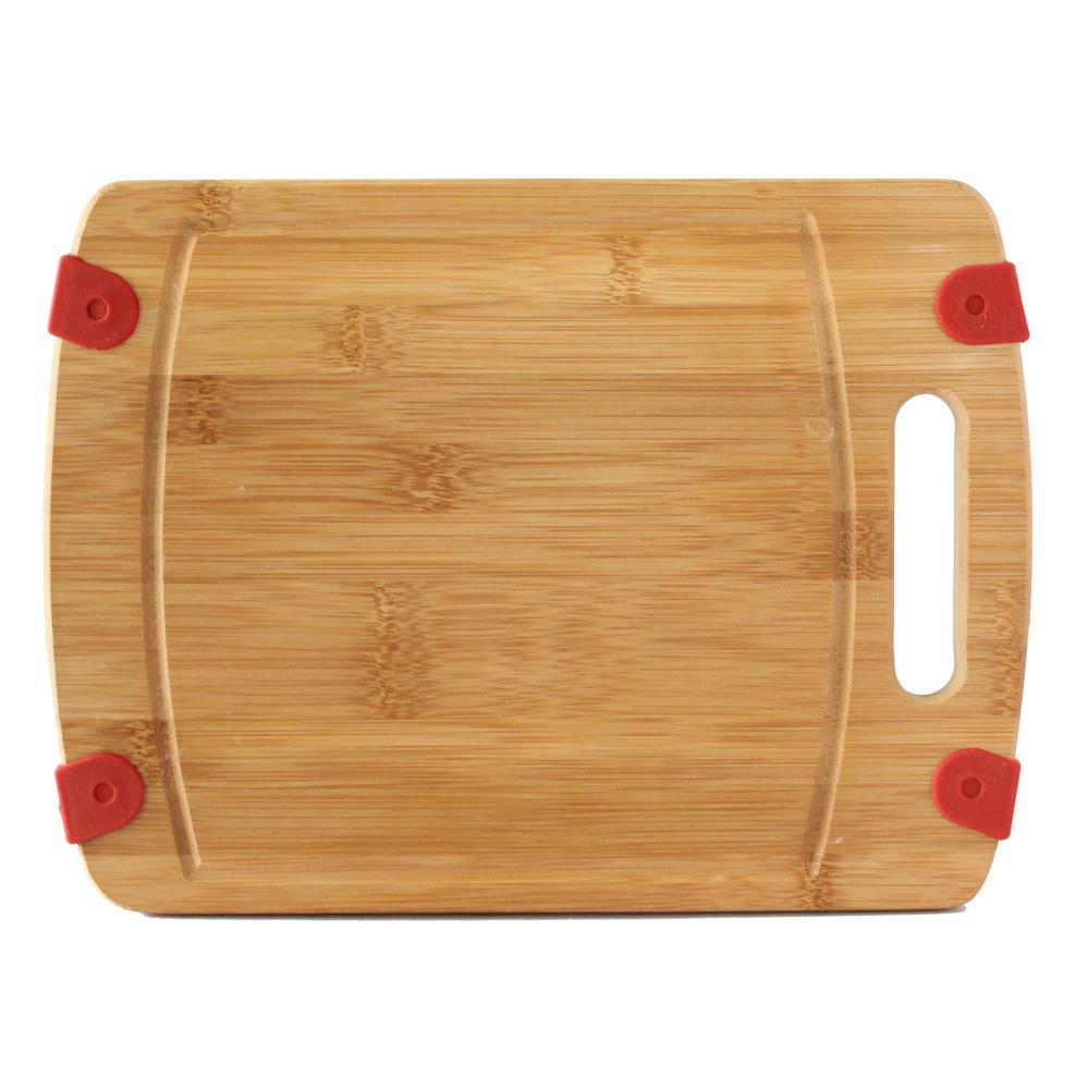 CULINARY EDGE Non-Slip Bamboo Cutting Board-50028