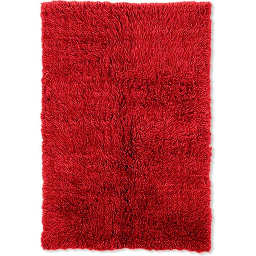 Linon Home Decor 3A Flokati Red 10 ft. x 14 ft. Area Rug