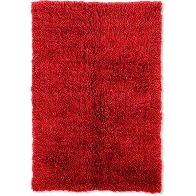 3A Flokati Red 6 ft. x 9 ft. Area Rug