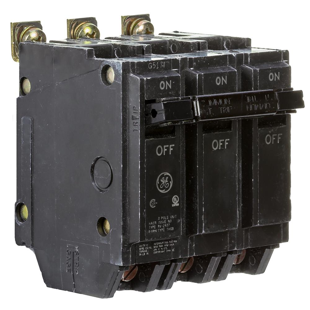 GE General Electric THQL32020 Circuit Breaker 3P 20A 120//240V THQL THQL-32020