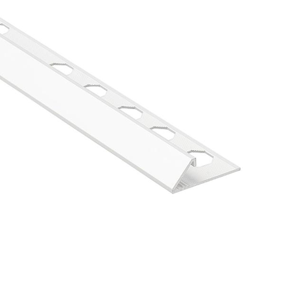 Novobisel White 1/2 in. x 98-1/2 in. Aluminum Tile Edging Trim