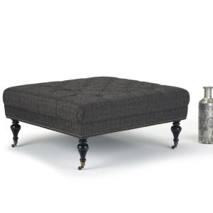 Simpli Home Marcus 42 In Traditional Square Table Ottoman