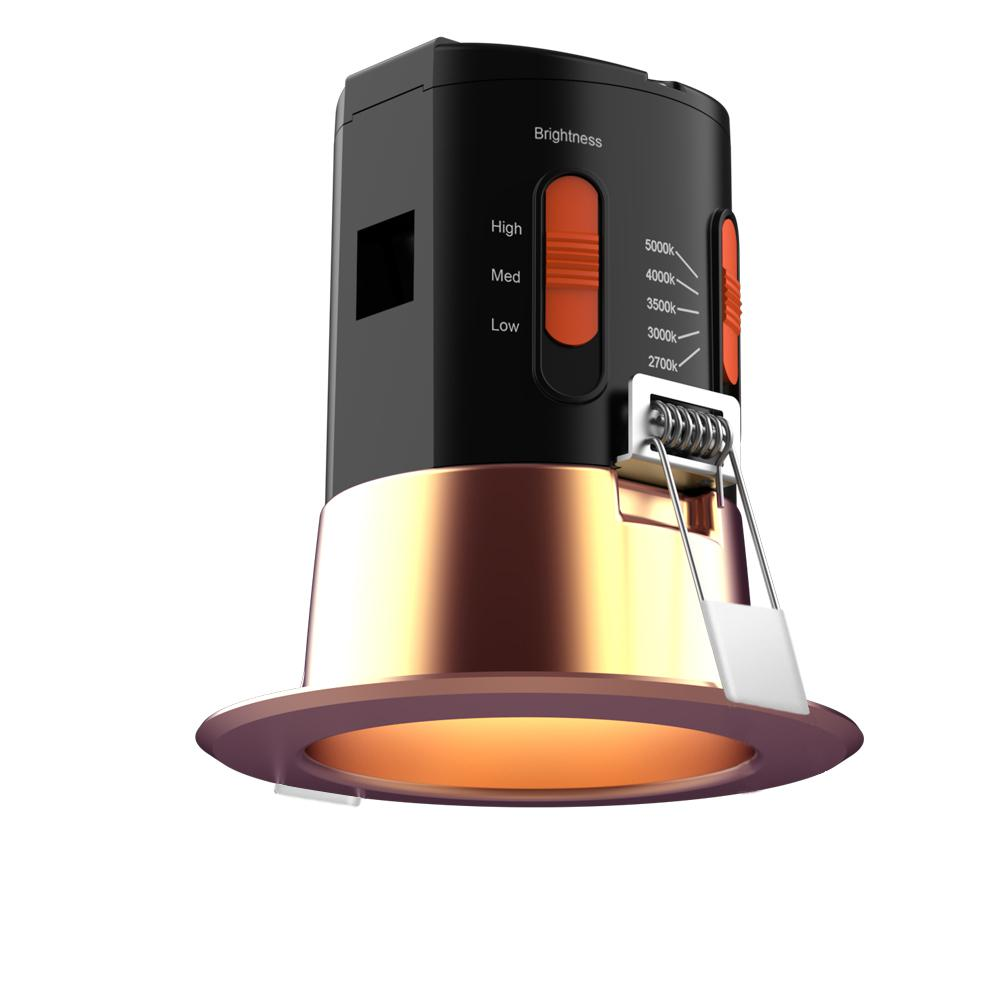 the latest 9dcb4 a2c26 KODO Premium Downlight 3 in. Copper Integrated LED Recessed Kit