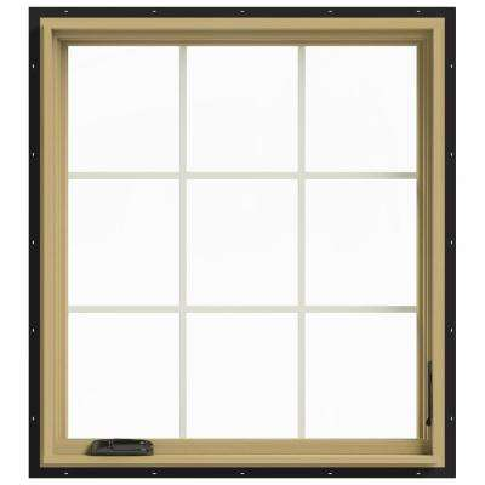 36 in. x 40 in. W-2500 Right Hand Casement Aluminum Clad Wood Window