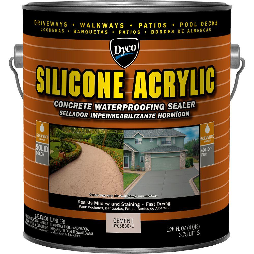 Silicone Acrylic 1 gal. Cement Exterior Opaque Concrete Waterproofing Sealer