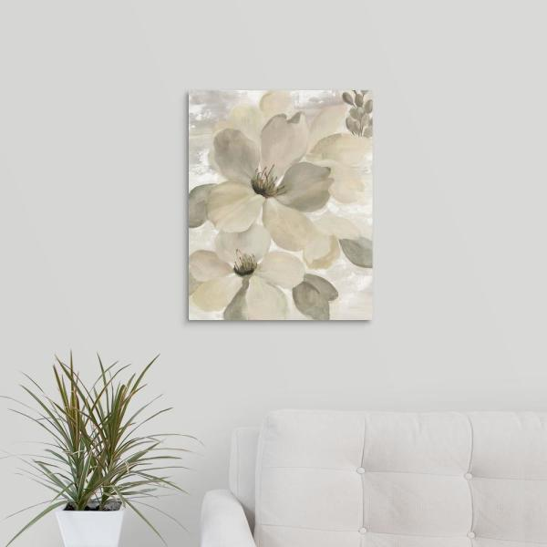 GreatBigCanvas 16 in. x 20 in. ''White on White Floral II