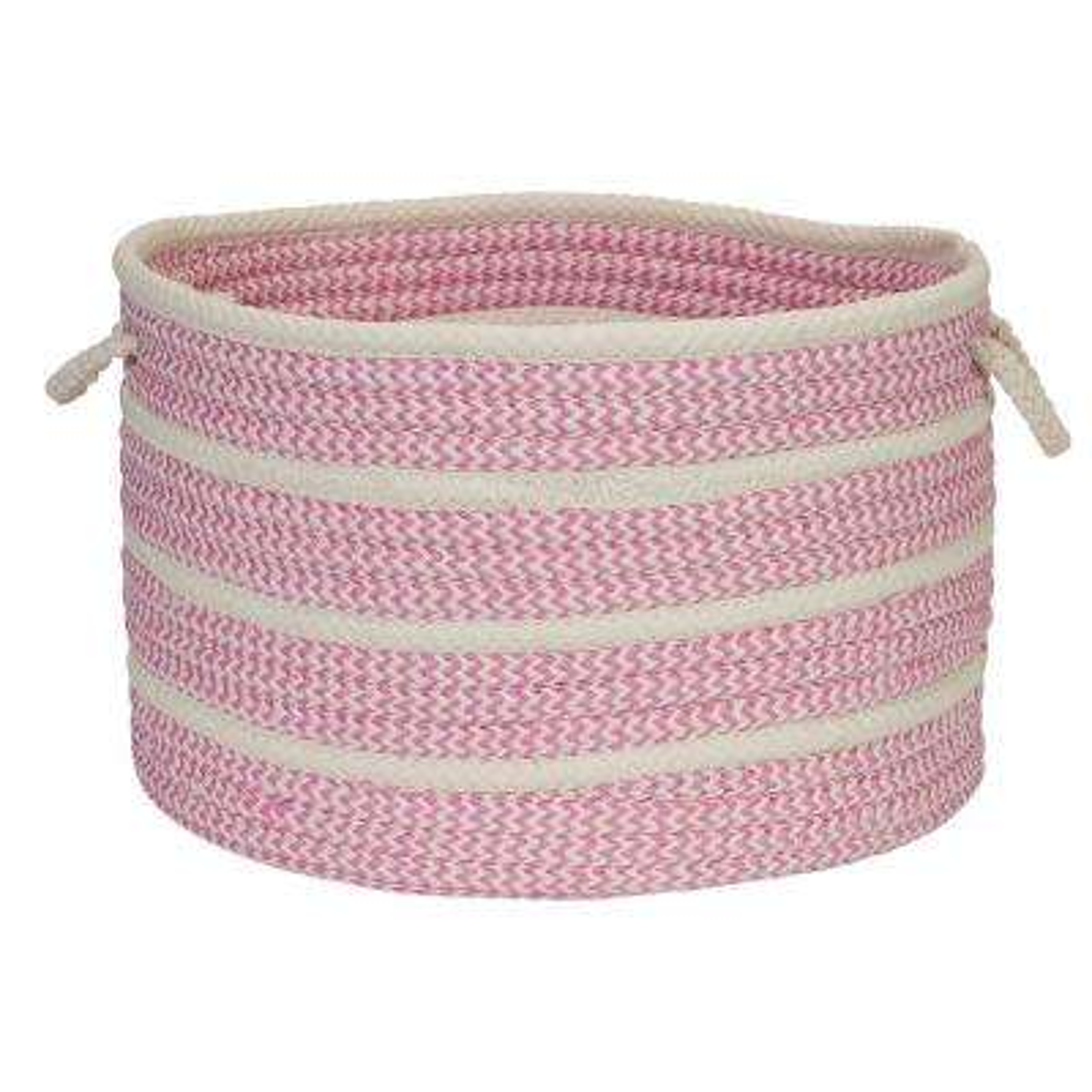 18 in. x 18 in. x 12 in. Pink Petunia Basket