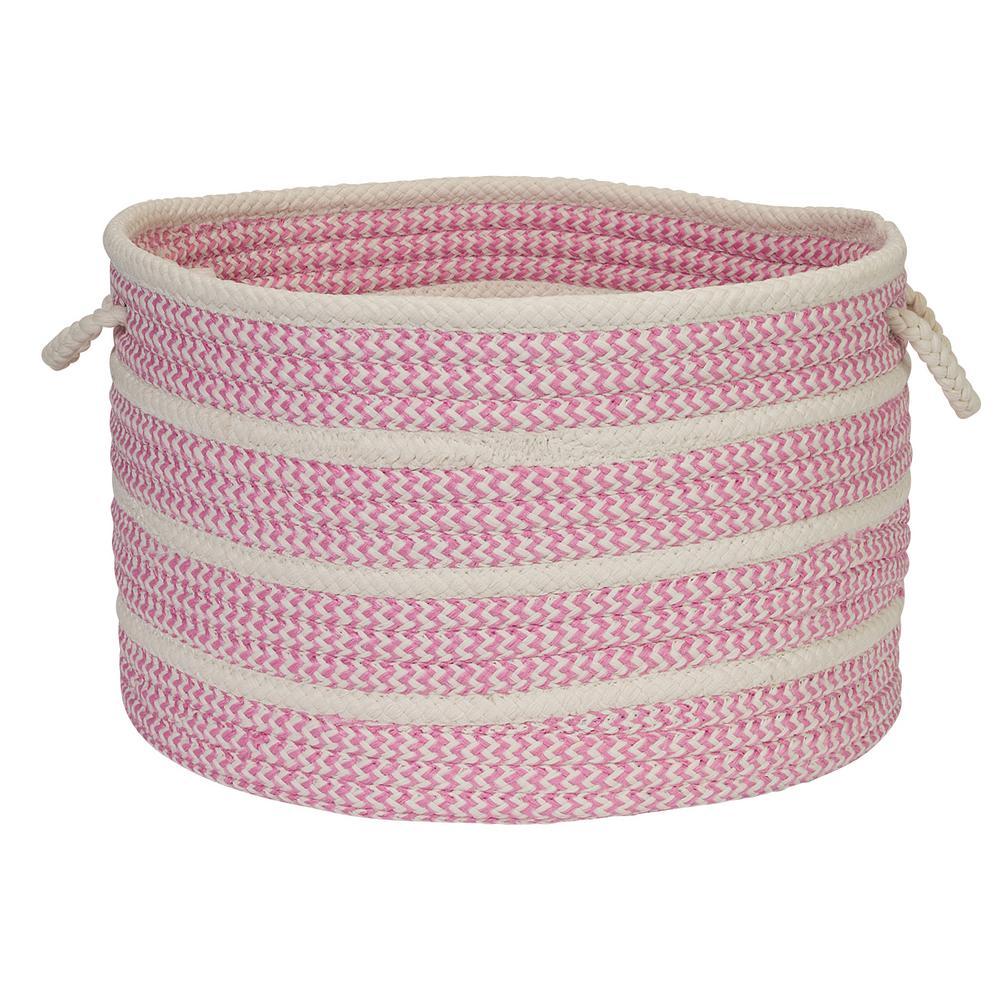 14 in. x 14 in. x 10 in. Pink Petunia Basket