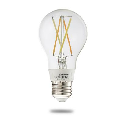 Solana 40-Watt Equivalent A19 Dimmable Smart Wi-Fi Connected LED Light Bulb Filament White (1-Bulb)
