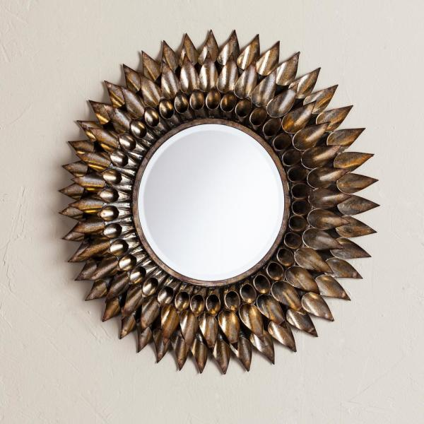 Southern Enterprises Danile Round Decorative Wall Mirror Hd749082 The Home Depot