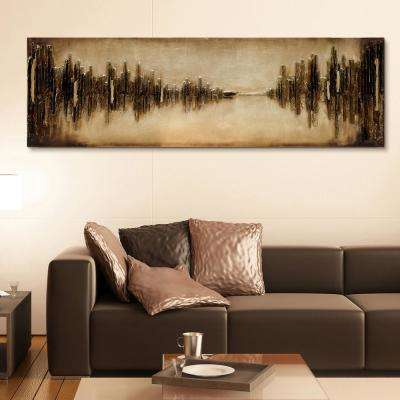 "72 in. x 22 in. ""Passages"" Mixed Media Wooden Hand Painted Dimensional Wall Art"