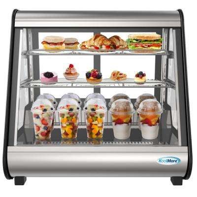 27 in. W 4.6 cu. ft. Commercial Countertop Refrigerator Display Case in Stainless Steel