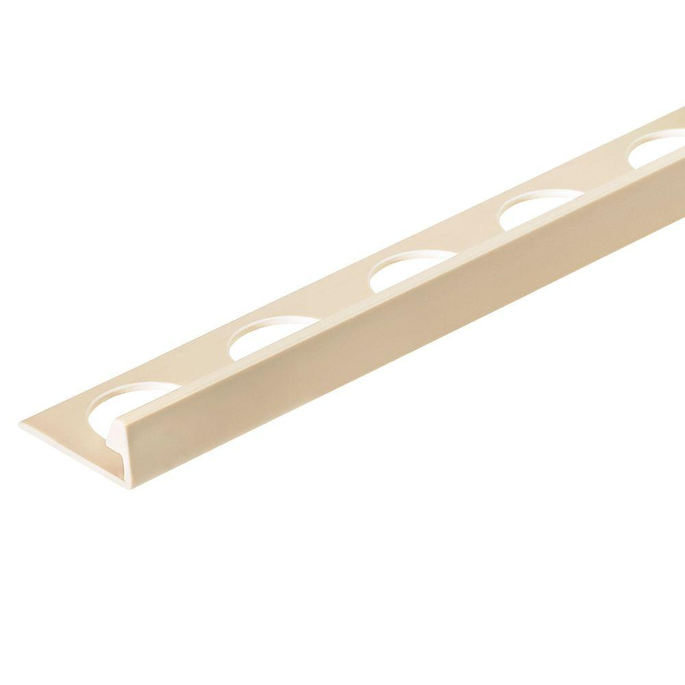 Sandstone 5/16 in. x 98-1/2 in. PVC L-Shaped Tile Edging Trim