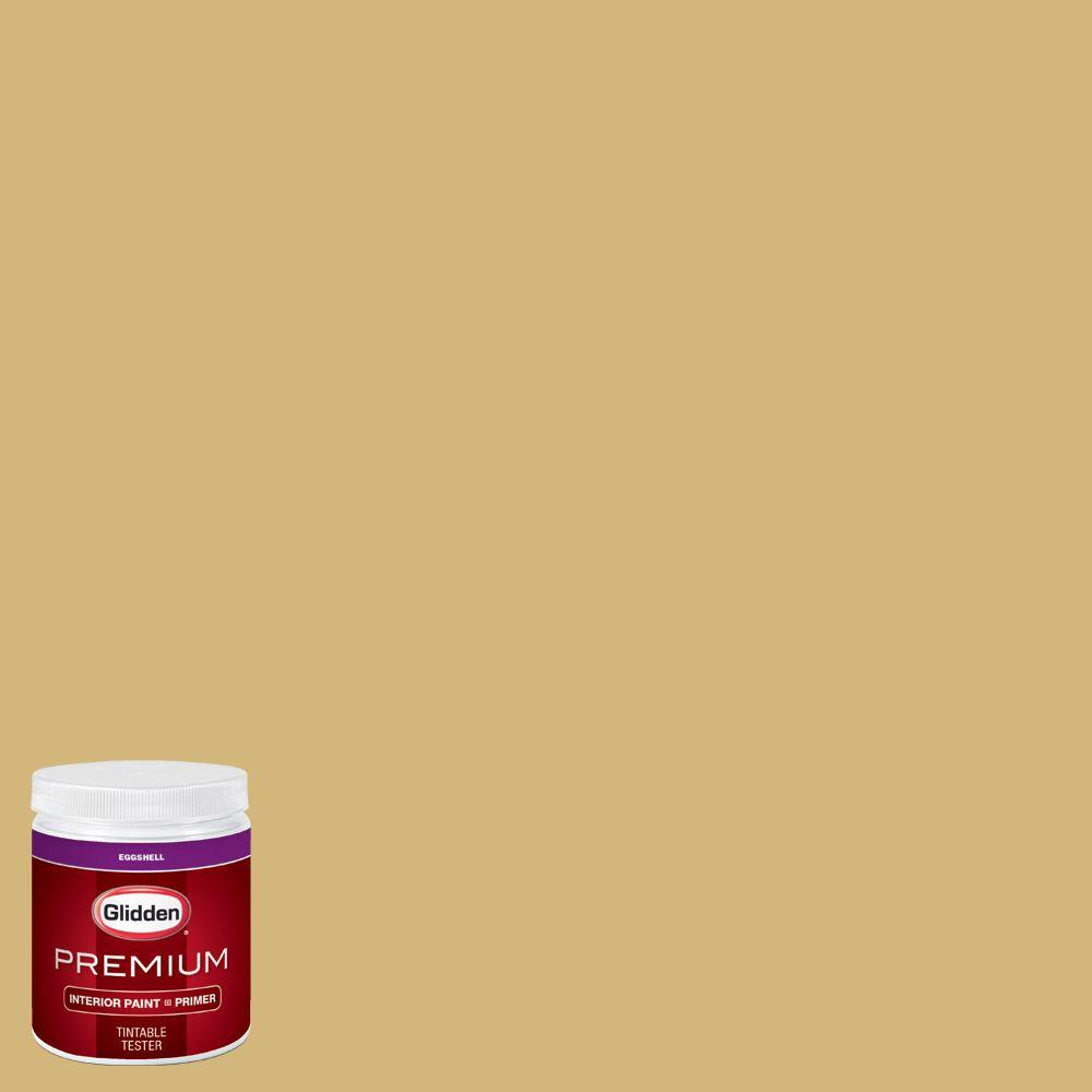 Glidden premium 8 oz hdgy37d spinning straw gold eggshell interior paint with primer tester for Glidden premium interior paint reviews