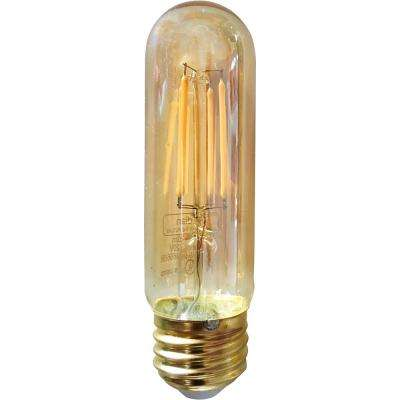40-Watt Equivalent Warm White T10S Dimmable Vintage LED Light Bulb