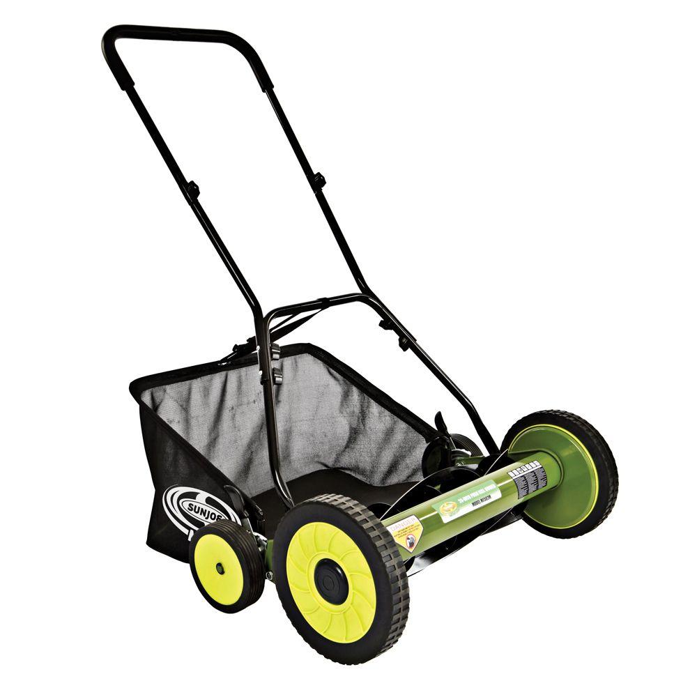 Sun Joe Reconditioned Mow Joe 20 in. Manual Reel Mower with Grass Catcher