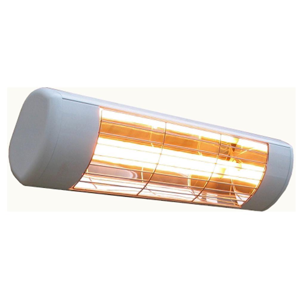 Sunheat 1500 Watt 120 Volt Outdoor Weatherproof Electric Wall Mounted Heater White