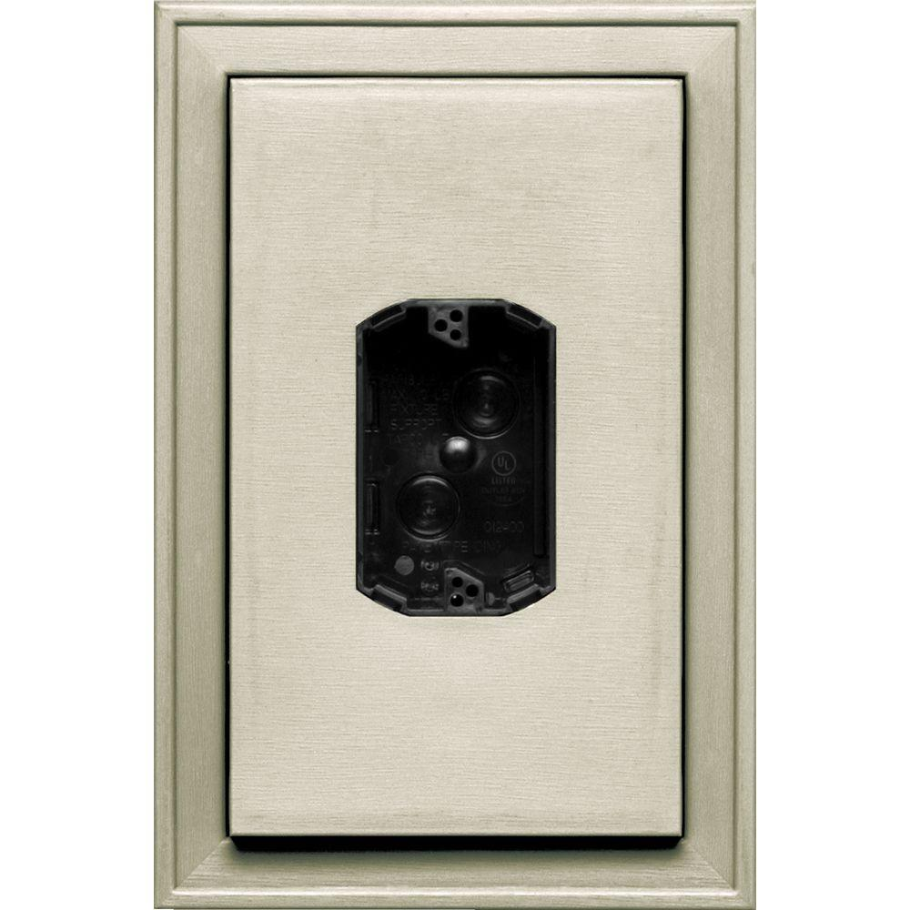 8.125 in. x 12 in. #089 Champagne Jumbo Electrical Mounting Block