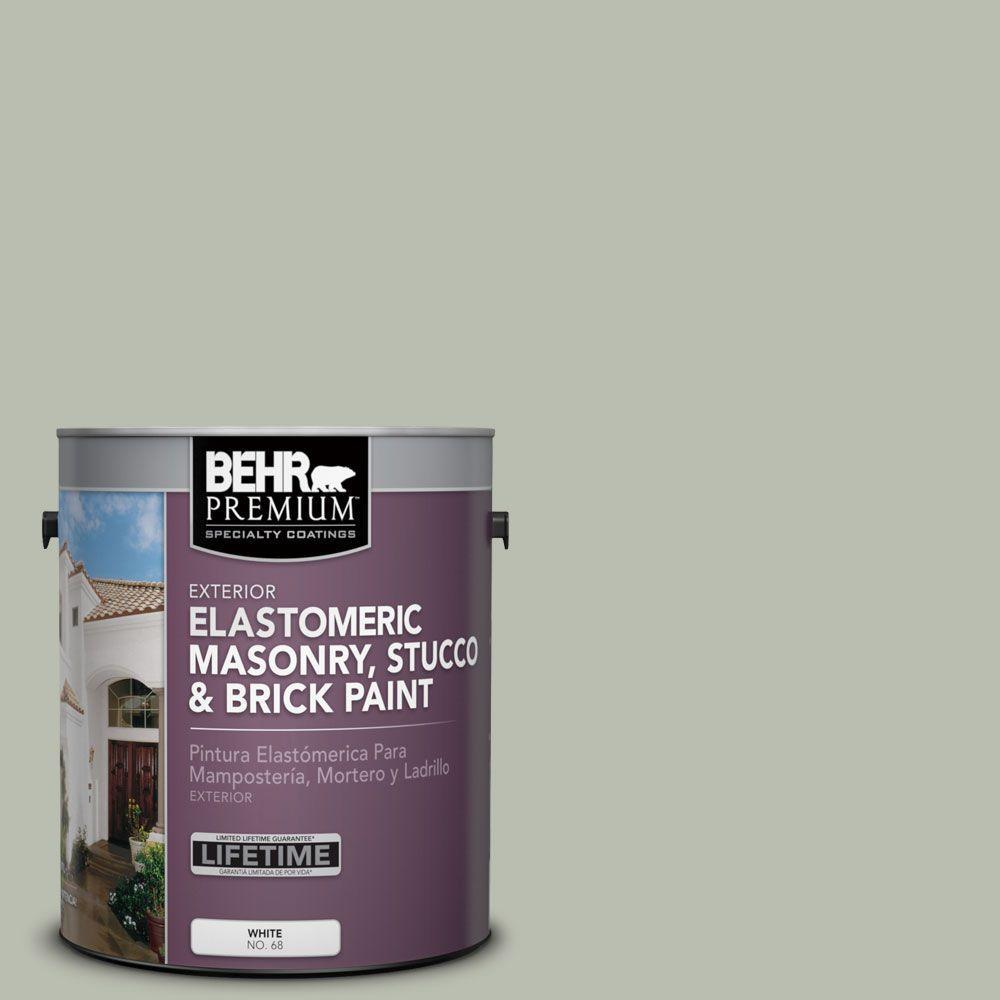 1 gal. #MS-50 Prairie Sage Elastomeric Masonry, Stucco and Brick Exterior Paint