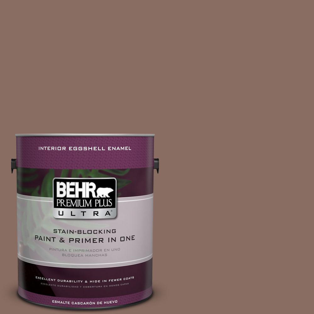 BEHR Premium Plus Ultra 1-gal. #N150-5 French Truffle Eggshell Enamel Interior Paint