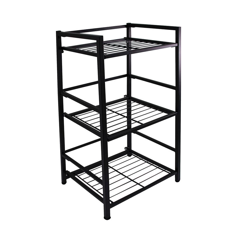 3-Shelf Narrow 14.5 in. W x 30.5 in. H x 12 in. D Steel Shelf