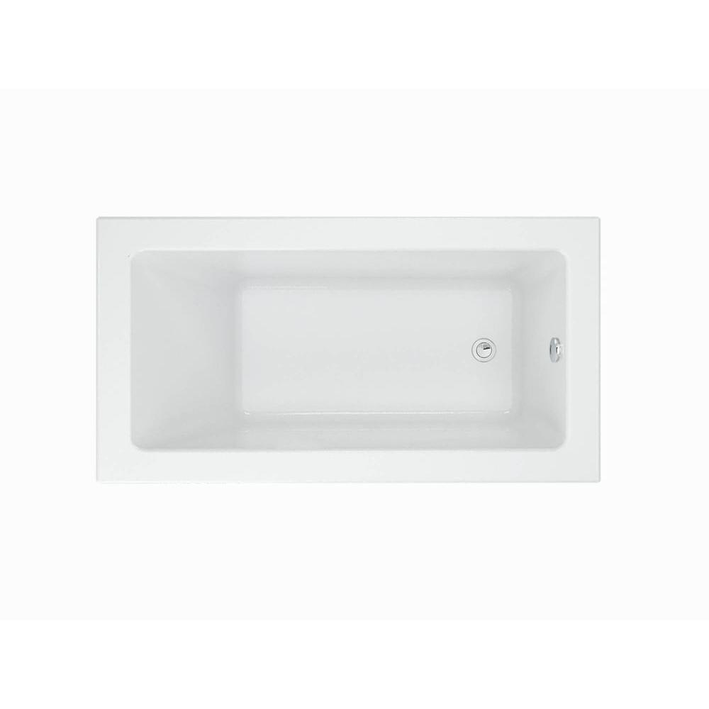 American Standard Studio 60 In Rectangular Drop In Non Whirlpool Bathtub In White 2932002 D2 020 The Home Depot