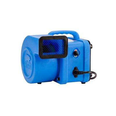 1/4 HP Mini Air Mover for Water Damage Restoration Carpet Dryer Floor Blower Fan in Blue