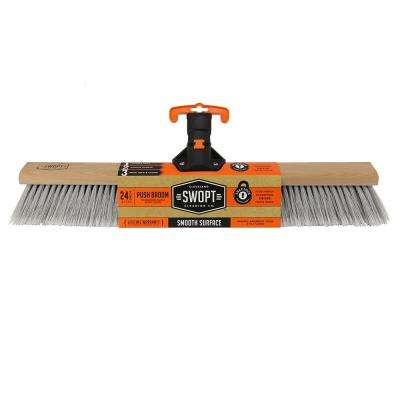 24 in. Premium Smooth Surface Push Broom Head