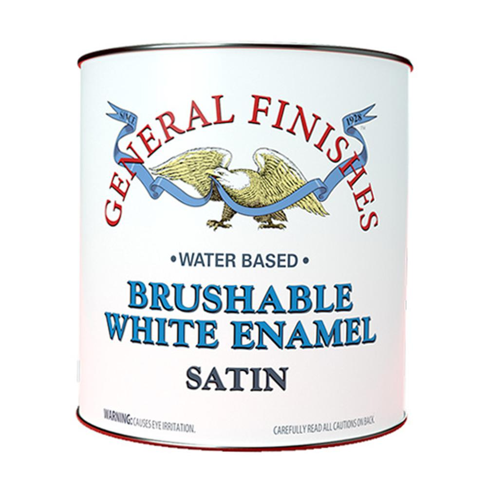 General Finishes 1 qt. Satin Interior Wood Brushable White Enamel