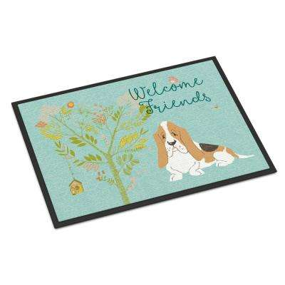 18 in. x 27 in. Indoor/Outdoor Welcome Friends Basset Hound Door Mat