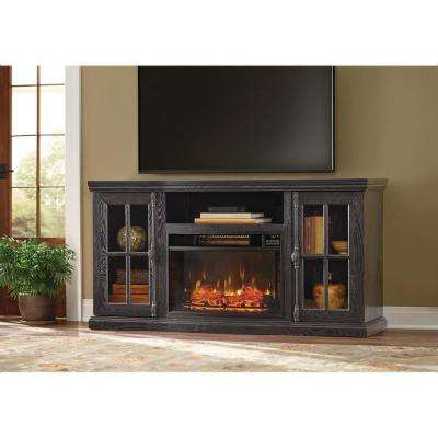 Manor Place 67 in. TV Stand w/ Bluetooth Electric Fireplace in Black
