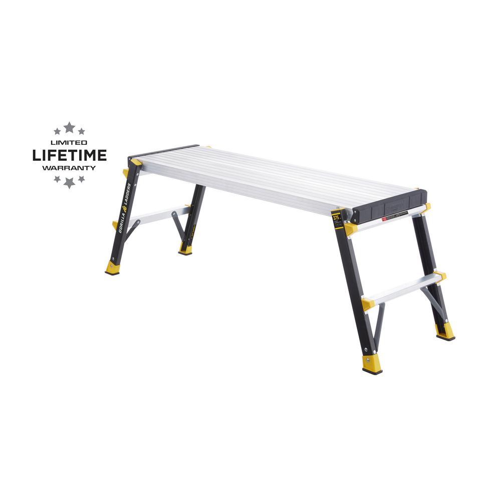 47 in. x 14 in. x 20 in. Fiberglass Slim-Fold Work Platform with 375 lbs. Load Capacity