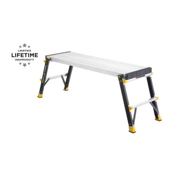 47 in. x 14 in. x 20 in. Fiberglass Slim-Fold Work Platform with 375 lbs. Load Capacity