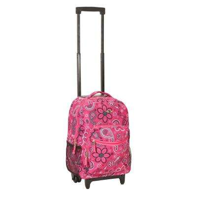 Rockland Roadster 17 in. Rolling Backpack, Bandana
