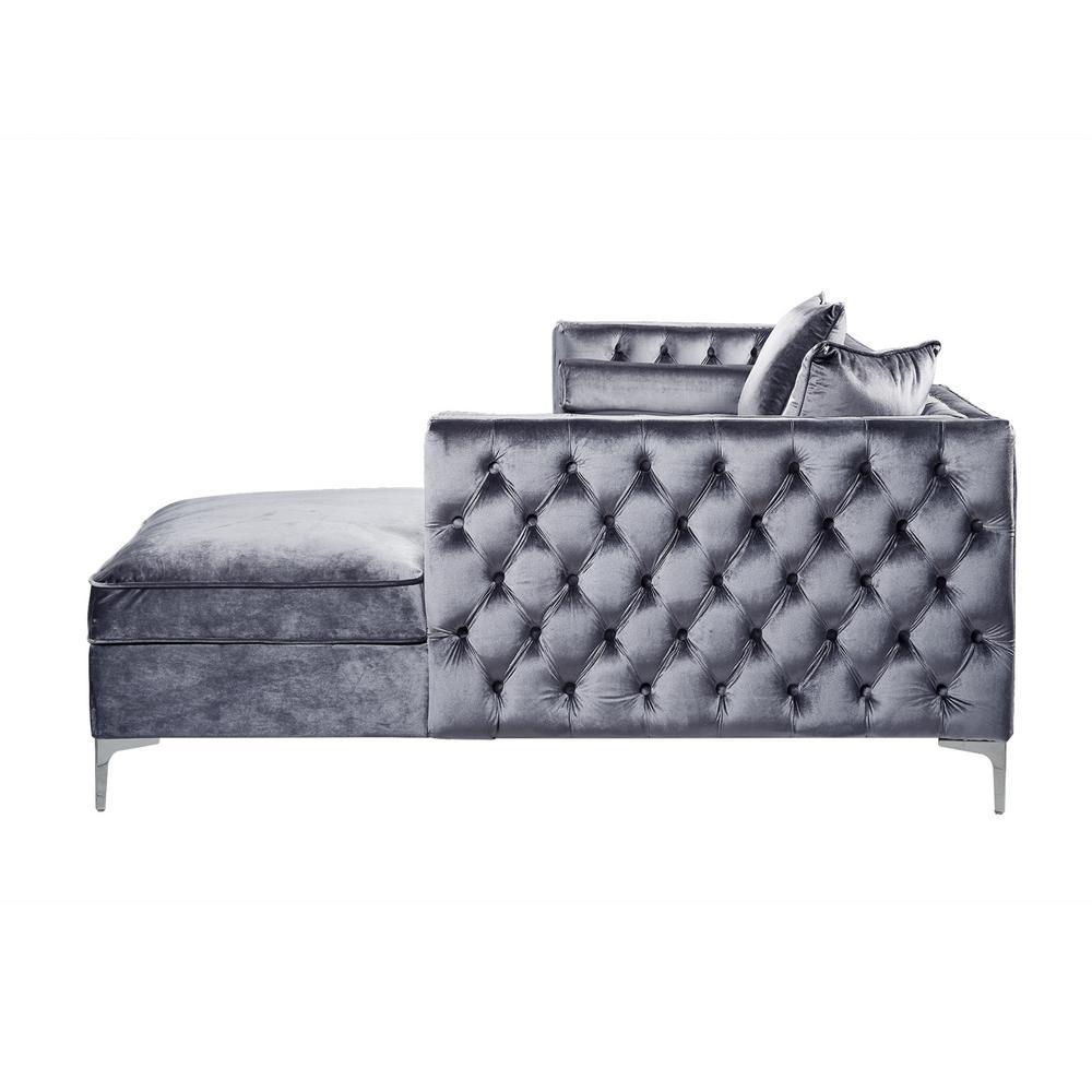 Cool Inspired Home Olivia Grey Silver Velvet Right Facing Ibusinesslaw Wood Chair Design Ideas Ibusinesslaworg