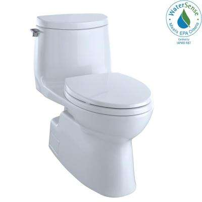 Carlyle II 1-Piece 1.0 GPF Single Flush Elongated Skirted Toilet with CeFiONtect in Cotton White, Seat Not Included