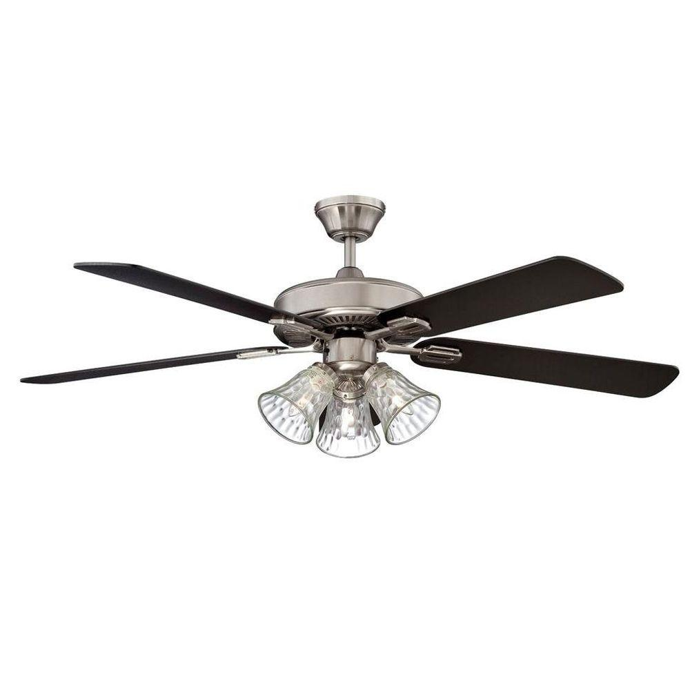 Concord Fans Richmond 52 In Indoor Stainless Steel Ceiling Fan 52ric5est The Home Depot