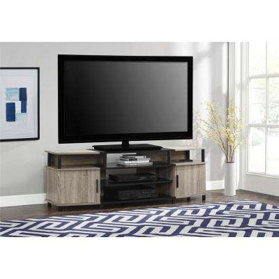 70 in. Windsor Weathered Oak TV Stand