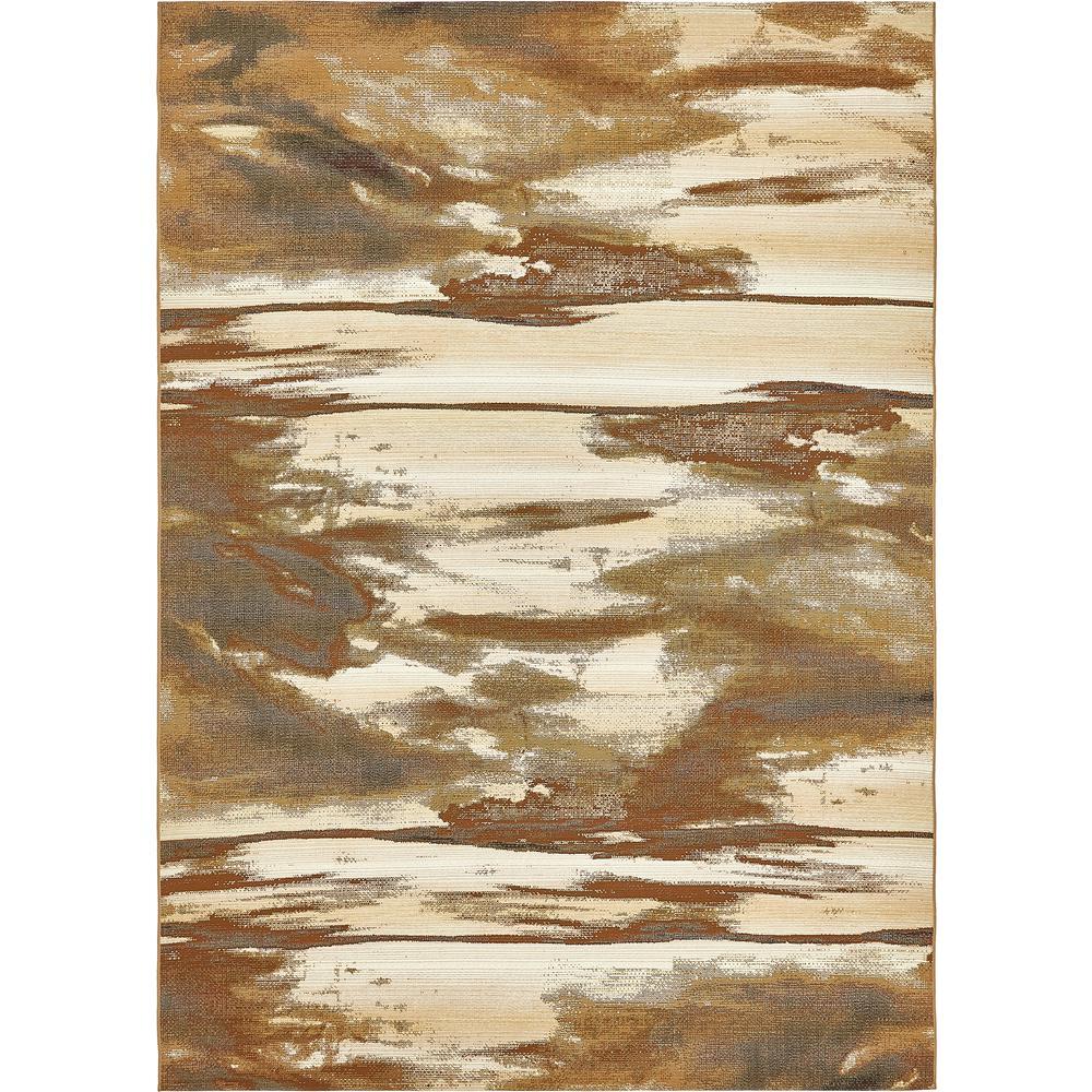 "Outdoor Modern Brown 8' x 11'4"" Rug"