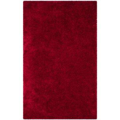 Luxe Shag Red 8 ft. x 10 ft. Area Rug
