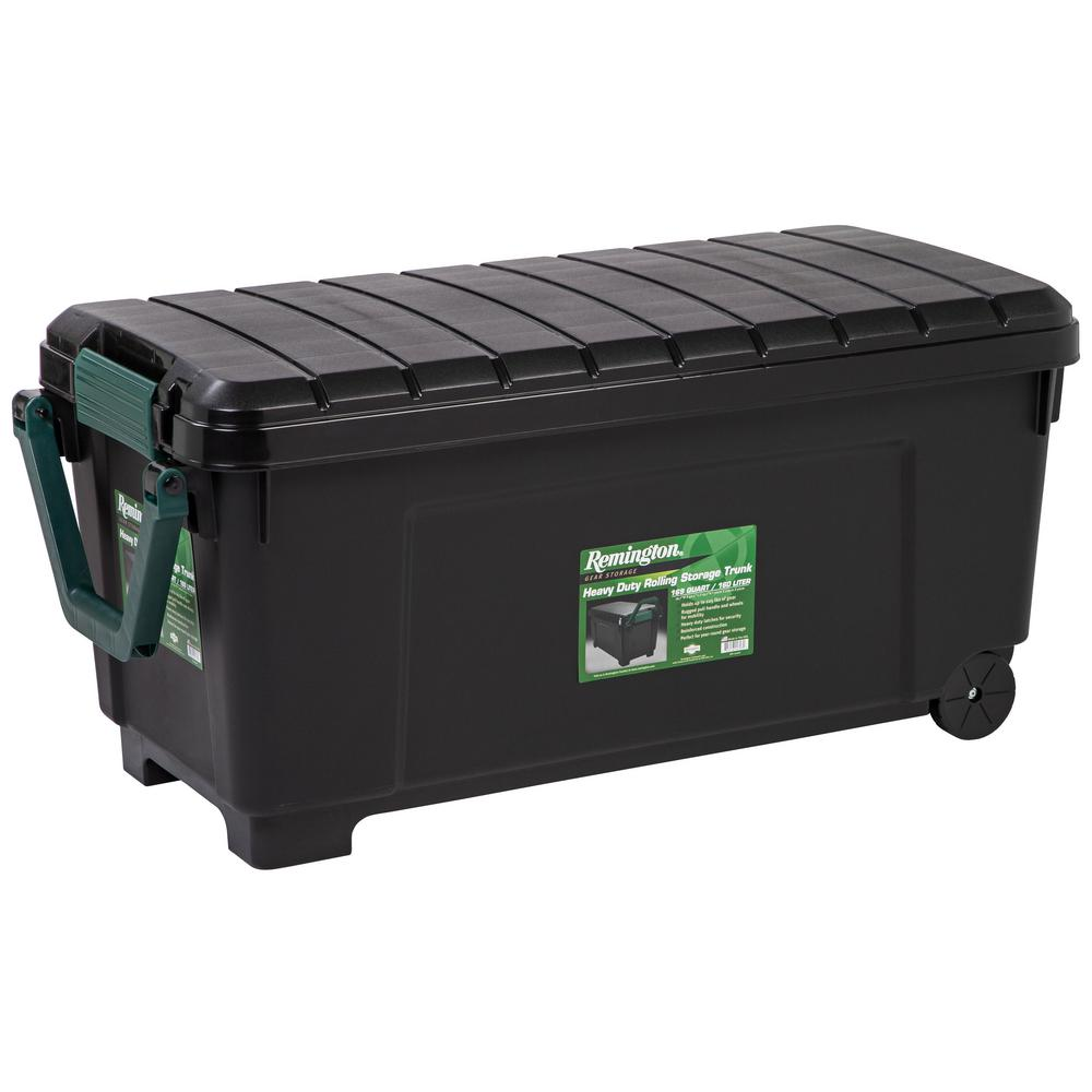 Genial IRIS 169 Qt. Remington Store It All Tote Storage Bin In Black 296003   The  Home Depot