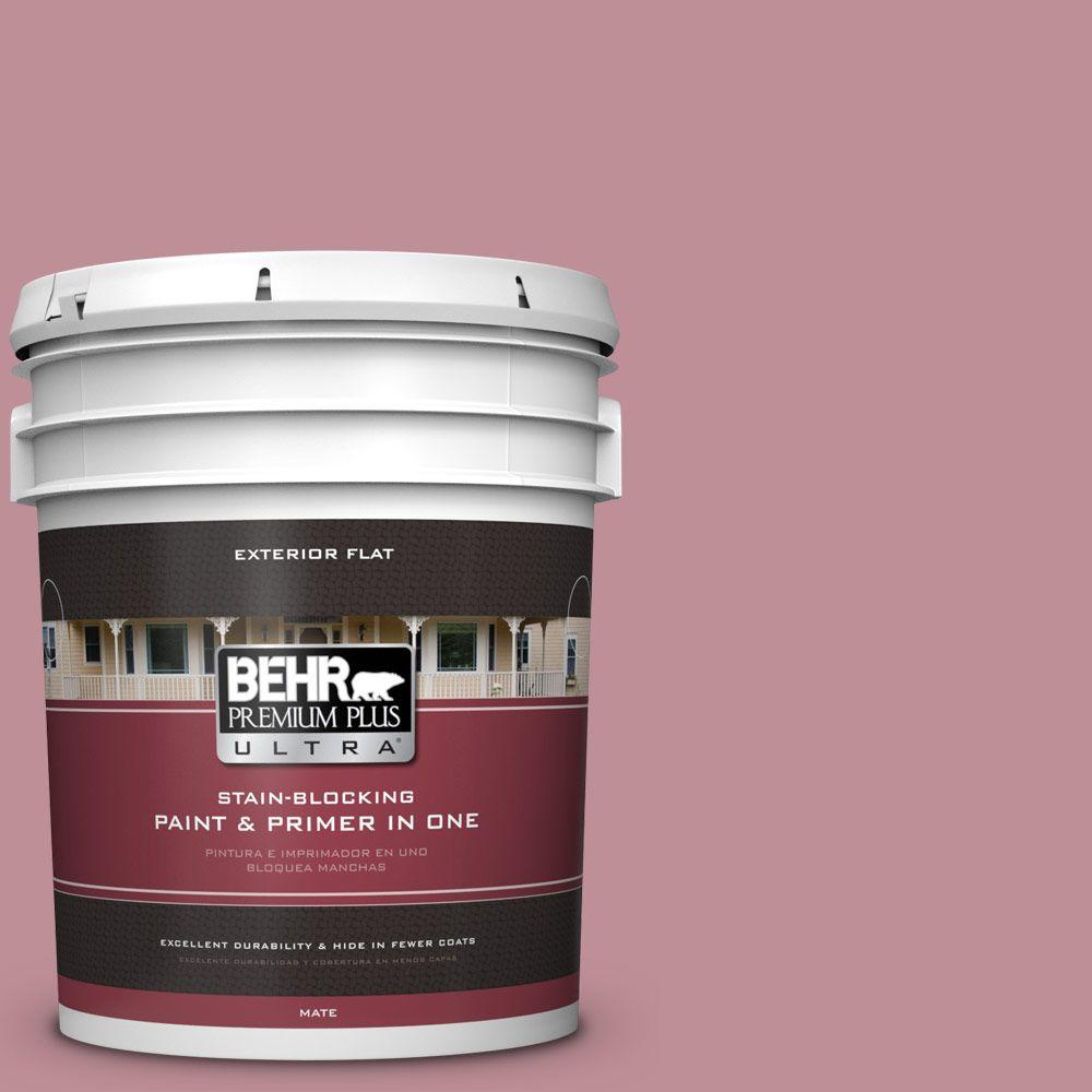 BEHR Premium Plus Ultra 5-gal. #S130-4 Cherry Juice Flat Exterior Paint