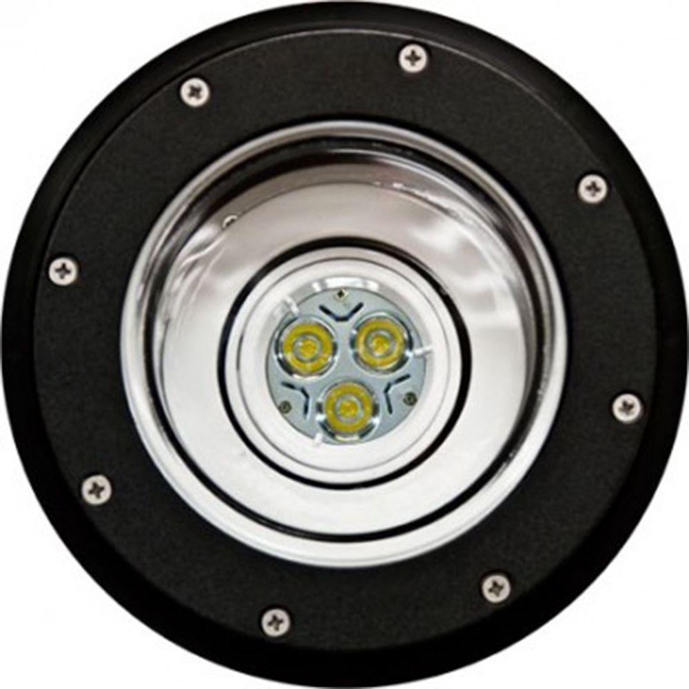 Brantley 3-Light Black Outdoor LED In-Ground Well Light