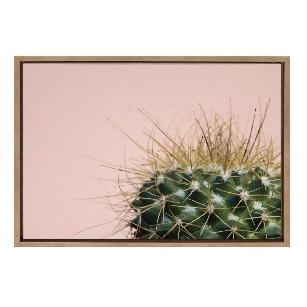 """Sylvie """"Cactus 1"""" by F2Images Framed Canvas Wall Art"""