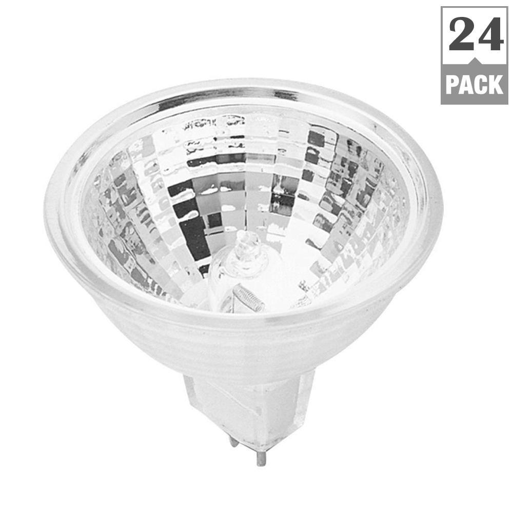 20-Watt Warm White (3000K) MR11 G4 Bi-Pin Dimmable Halogen 12-Volt Landscape Garden Light Bulb (24-Pack)