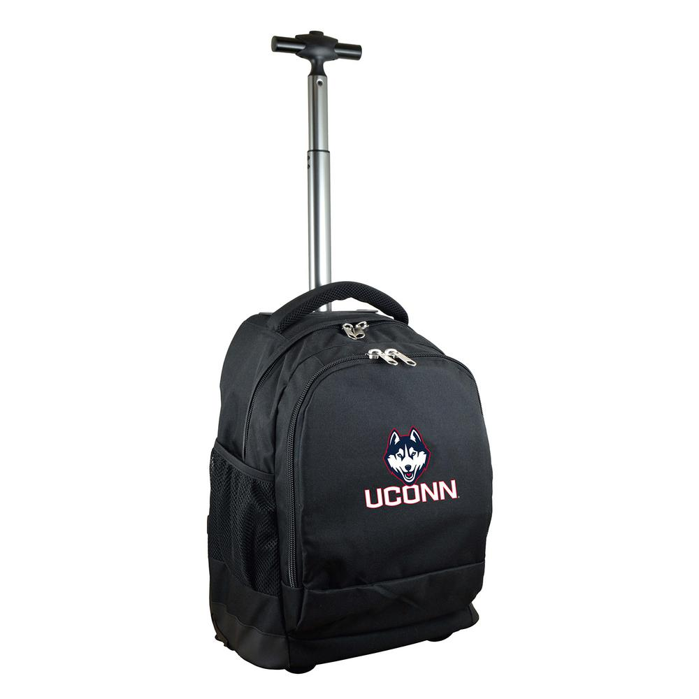 NCAA Connecticut 19 in. Black Wheeled Premium Backpack