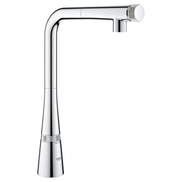 Ladylux L2 Smartcontrol Single-Handle Pull-Out Sprayer Kitchen Faucet in StarLight Chrome