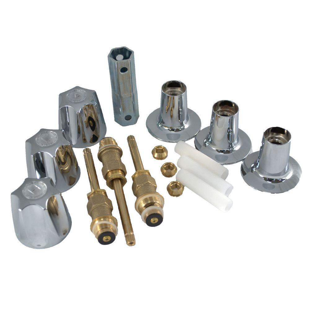 Partsmasterpro 3 Handle Tub And Shower Rebuild Kit For Price Pfister