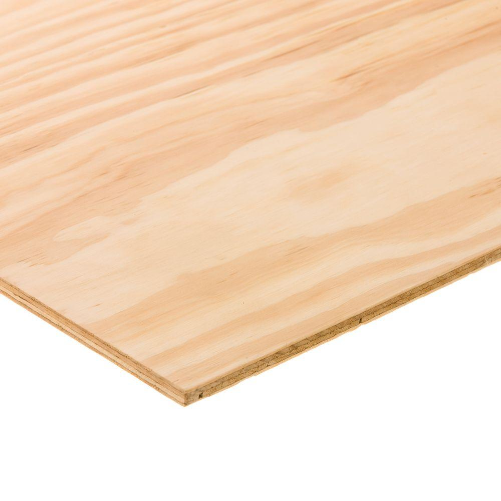 BC Sanded Plywood (Common: 15/32 in. x 2 ft. x 4